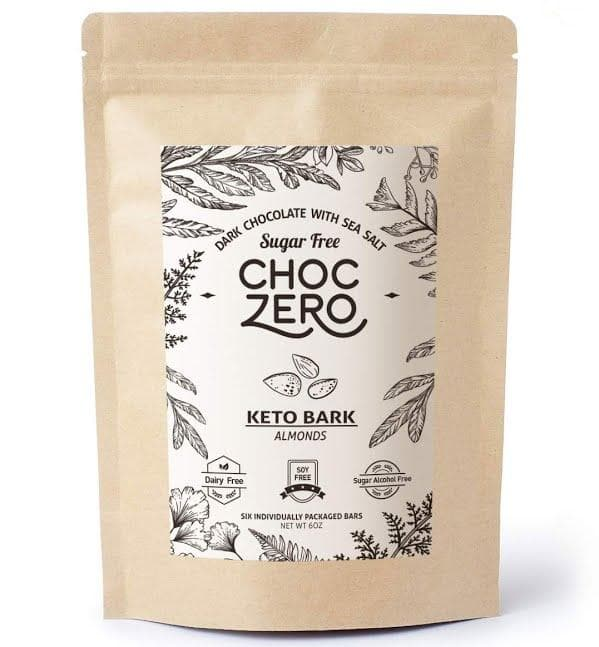 ChocZero Keto Bark Dark Chocolate Almonds with Sea Salt