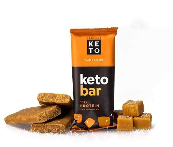 Perfect Keto Salted Caramel Bars
