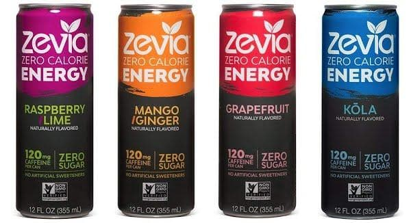 Zevia Energy Drinks